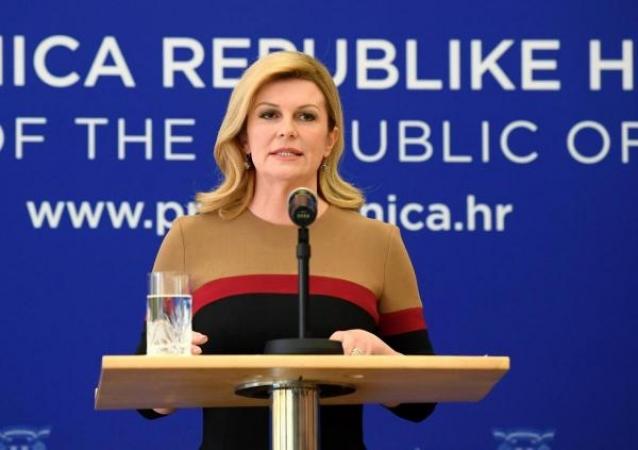 """Predsjednica: 'Pogriješila sam. """"ZDS"""" nije stari hrvatski pozdrav'"""